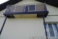 Балкон из нержавейки Барановка