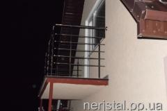 Балкон из нержавейки Житомир