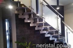 Лестница из нержавейки со стеклом Житомир