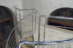 Лестница, перила из нержавейки Дубно