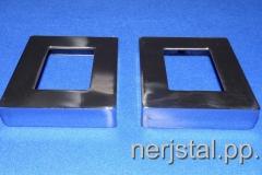 Декоративные накладки квадратные из нержавейки 100х80 мм
