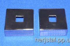 Декоративные накладки квадратные из нержавейки 55х55 мм