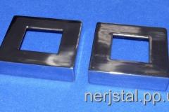 Декоративные накладки квадратные из нержавейки 80х80 мм