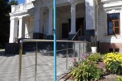 Ограждение из нержавейки школа №1 Андрушевка