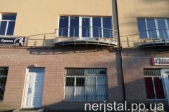 Ограждения балкона из нержавейки Малин