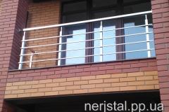 Ограждения балкона из нержавейки Заречаны
