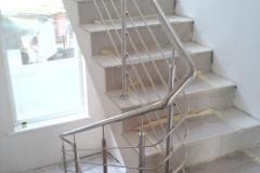 Ограждения лестницы из нержавейки Одесса