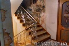 Ажурные ограждение лестницы из нержавейки Дубно