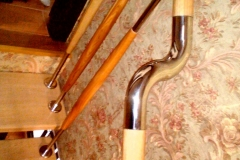 Ограждения лестницы из нержавейки с деревом Житомир