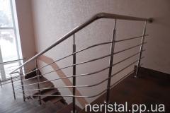 Ограждение лестницы из нержавейки Казатин