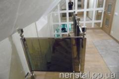 Перила из нержавейки со стеклом Киев
