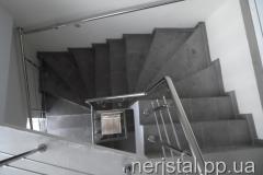 Перила для лестницы из нержавейки Кременец