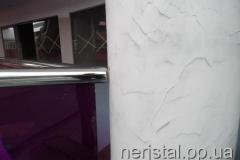 Перила из нержавейки со стеклом торговый центр Киев